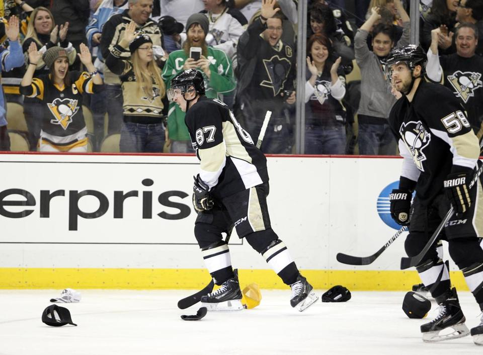 8cb98c454c9 NHL roundup  Sidney Crosby s hat trick paces Penguins - The Boston Globe