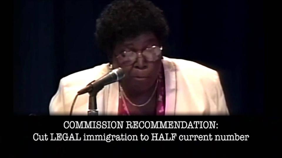 The clip of Barbara Jordan is at least 20 years and lacks context.