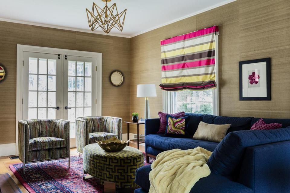 By Introducing Bright Colors, Different Textiles, And A Sectional Sofa,  Interior Designer Ana