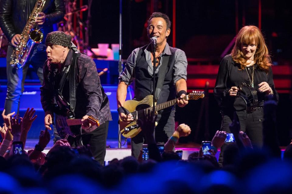 Bruce Springsteen (center) performed at Boston's TD Garden in February.