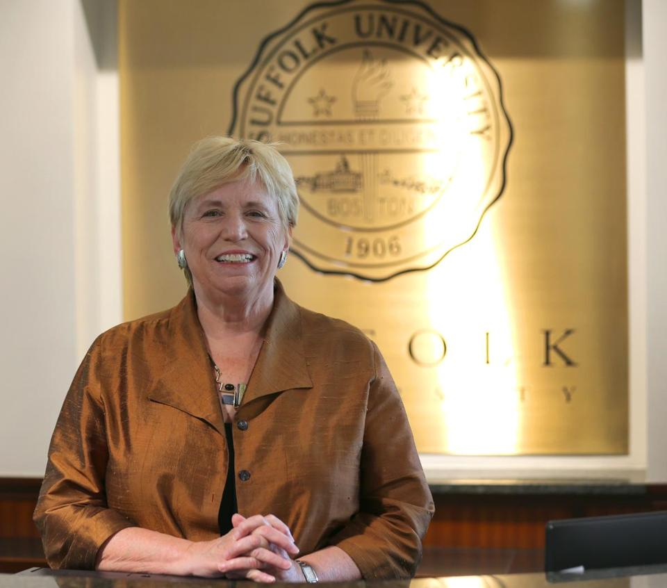 Suffolk University president Margaret McKenna.