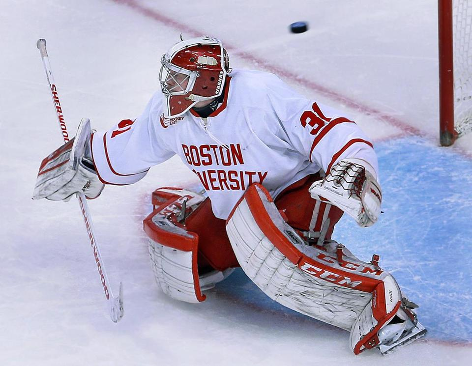 Only one puck got past BU goaltender and Beanpot MVP Sean Maguire, who made 41 saves on the night.