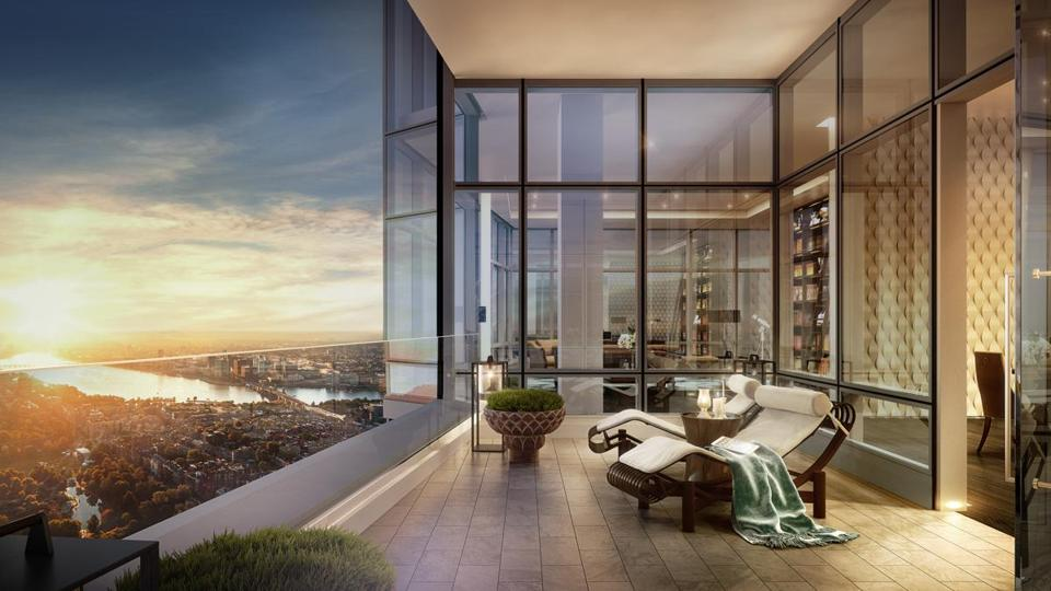 A rendering of the penthouse on the 60th floor of the Millennium Tower in Boston.