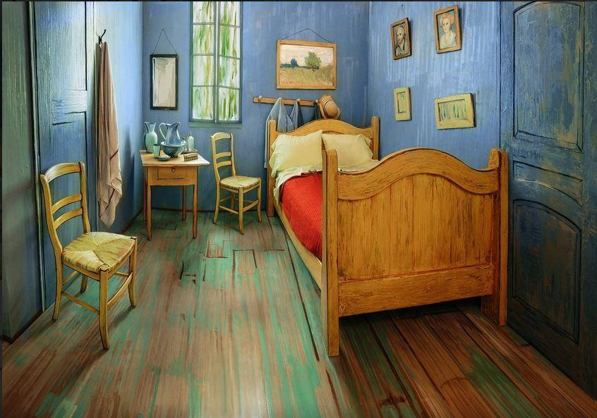 "A real-life version of Vincent van Gogh's ""The Bedroom."""