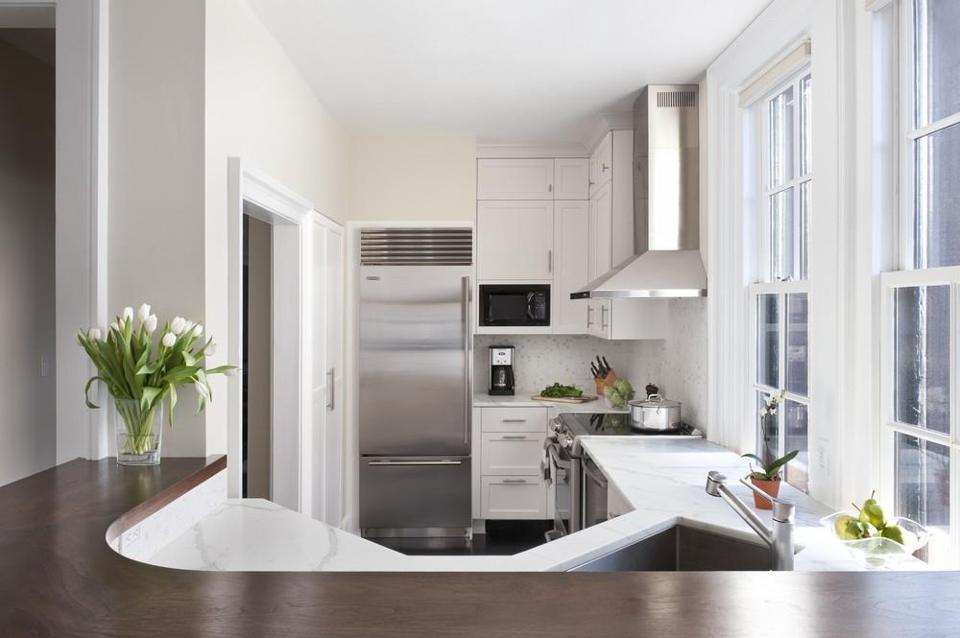 Great Ideas For Small Kitchens The Boston Globe Custom Kitchen Remodeling Boston Plans