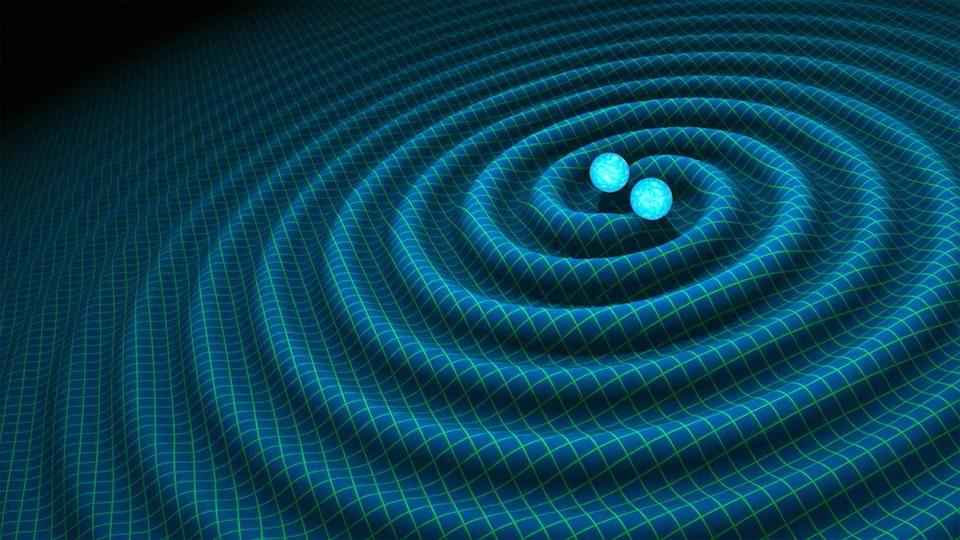 An artist's impression of gravitational waves.