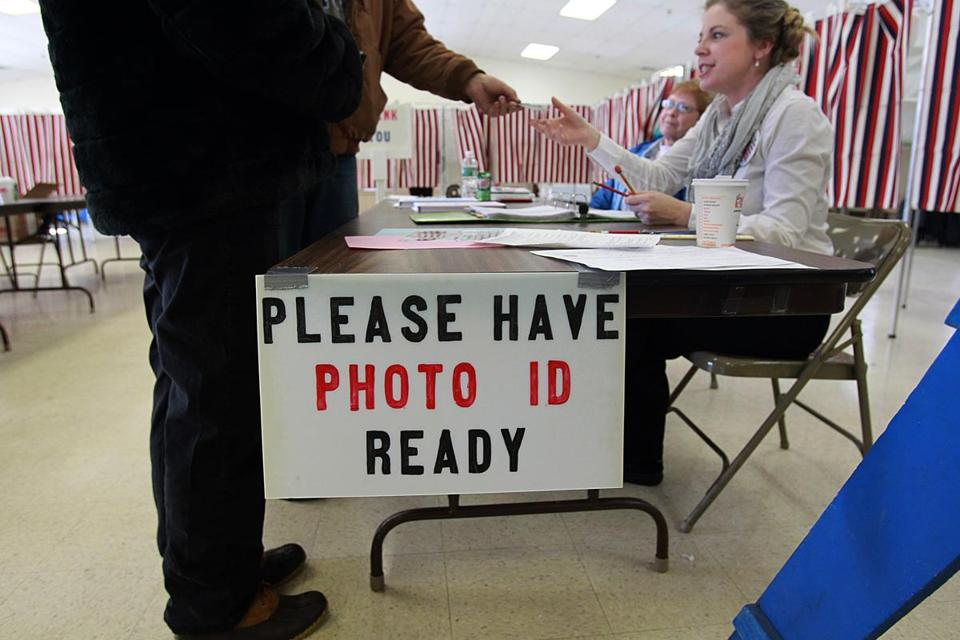 For the first time in a presidential primary, New Hampshire voters had to show ID Tuesday.