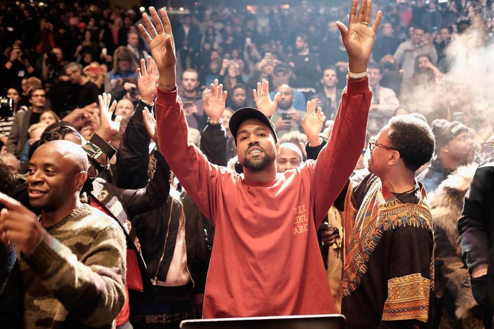 Nice Kanye West At Madison Square Garden Thursday. Amazing Pictures