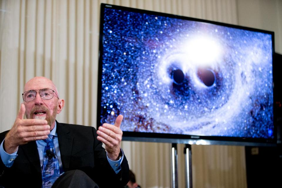 Laser Interferometer Gravitational-Wave Observatory co-founder Kip Thorne spoke during a news conference on Thursday to announce that scientists detected the gravitational waves that Einstein predicted a century ago.