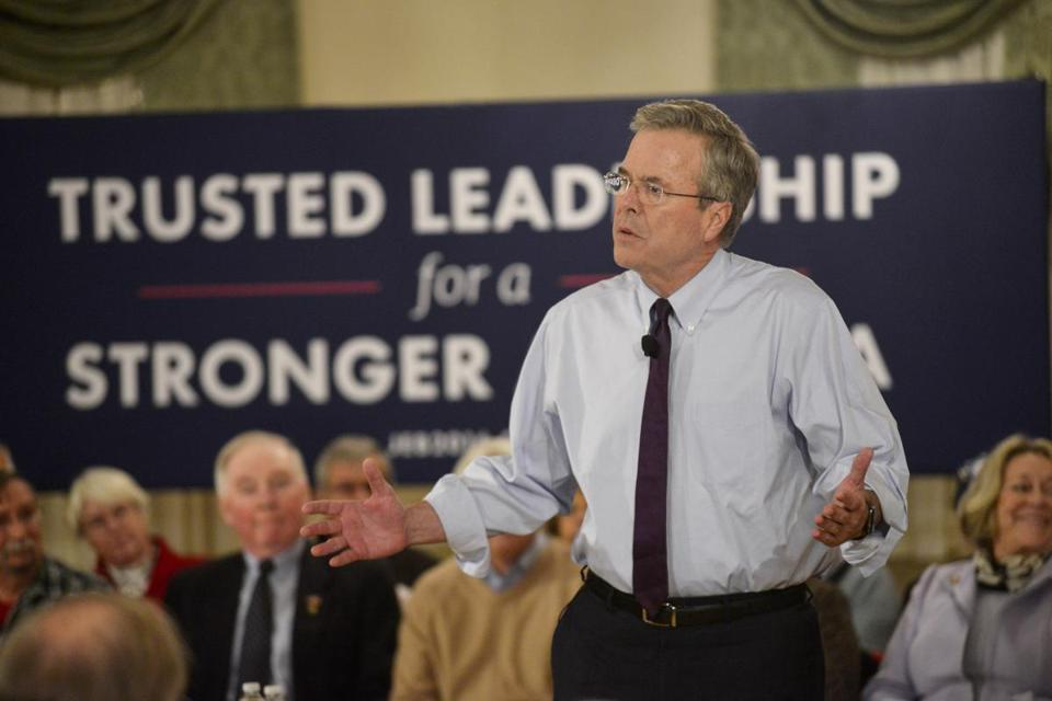 Jeb Bush held a town hall meeting in New Hampshire on Jan. 20.