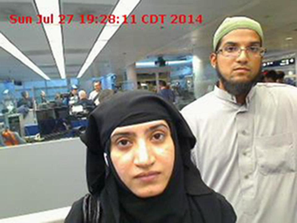 Federal prosecutors said they can't access a work phone used by Syed Farook (right) because they don't know his passcode.