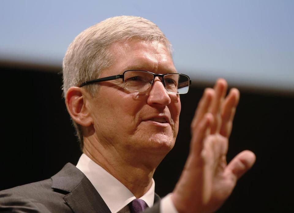 Apple Inc. chief executive Tim Cook.