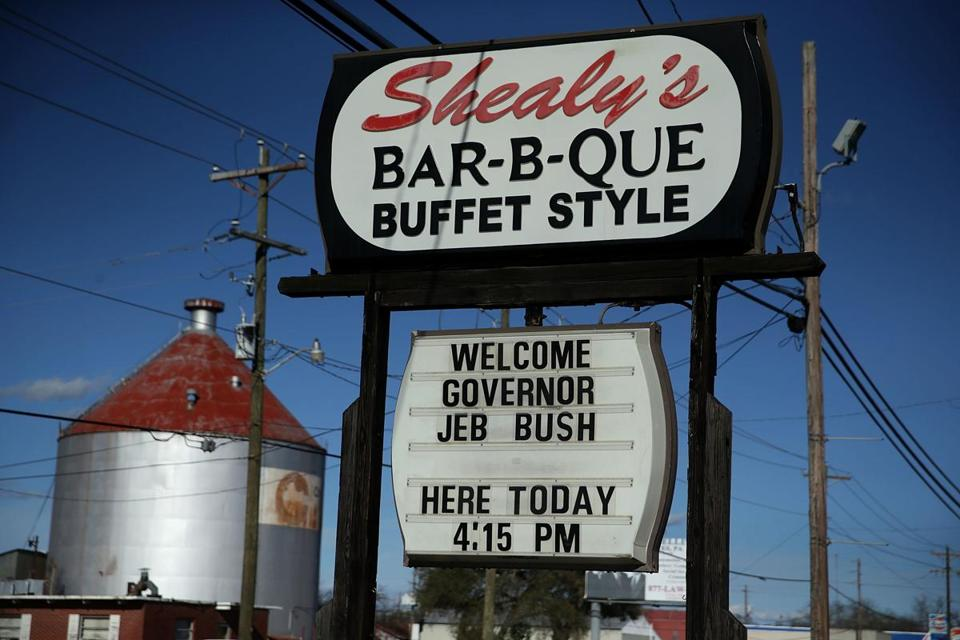 Shealy's Bar-B-Que in Leesville, South Carolina, welcomed presidential candidate Jeb Bush to a campaign event.