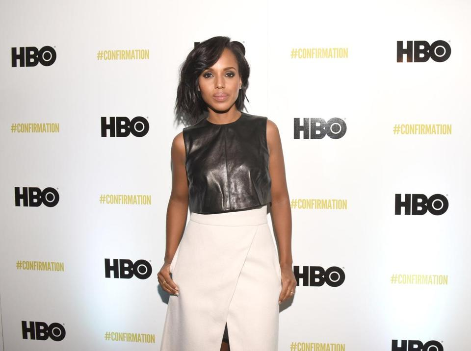 "Actress Kerry Washington attended a screening of HBO's ""Confirmation"" at the Sundance Film Festival."