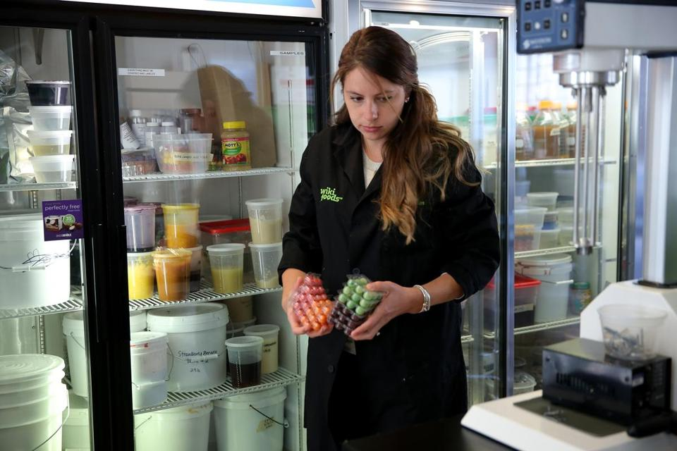 Kristen Enright, manager of product development for Wikifoods. Wikifoods frozen treats are sold in more than 150 Shaw's and Star markets.