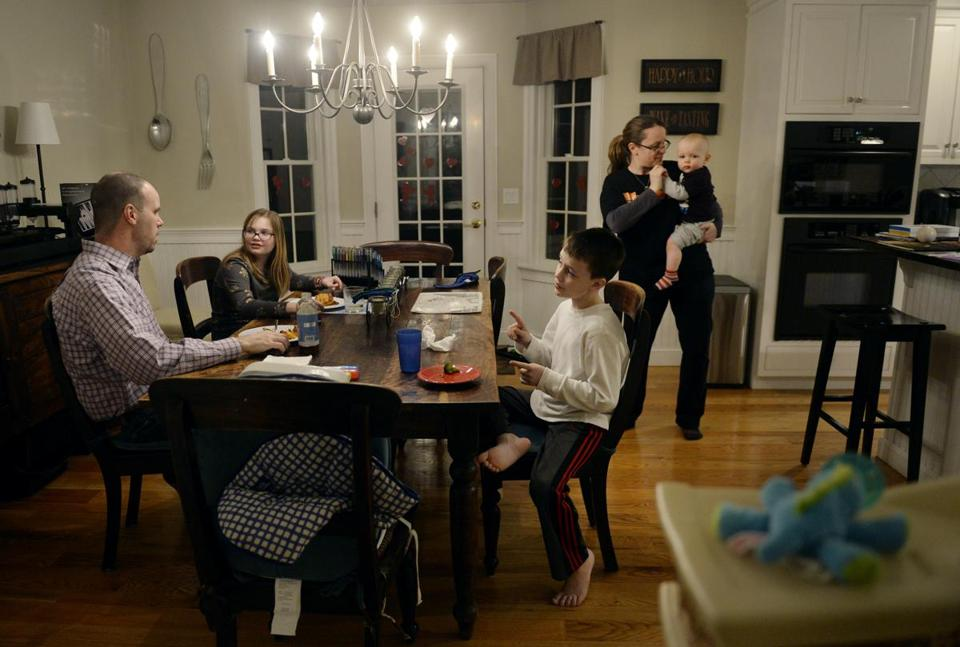 In North Andover, Tim and Hollie Baggs worry about how growing up surrounded by affluence will affect their children.