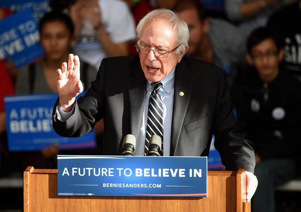 Bernie Sanders gave a concession speech in Henderson, Nevada, on Saturday.