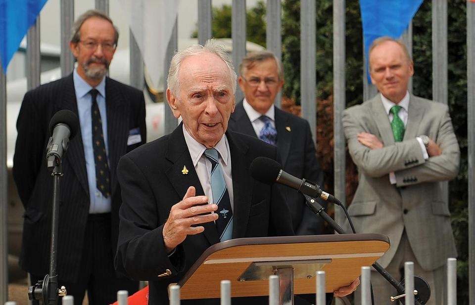 "Test-pilot Captain Eric ""Winkle"" Brown at Farnborough, England, in 2013."