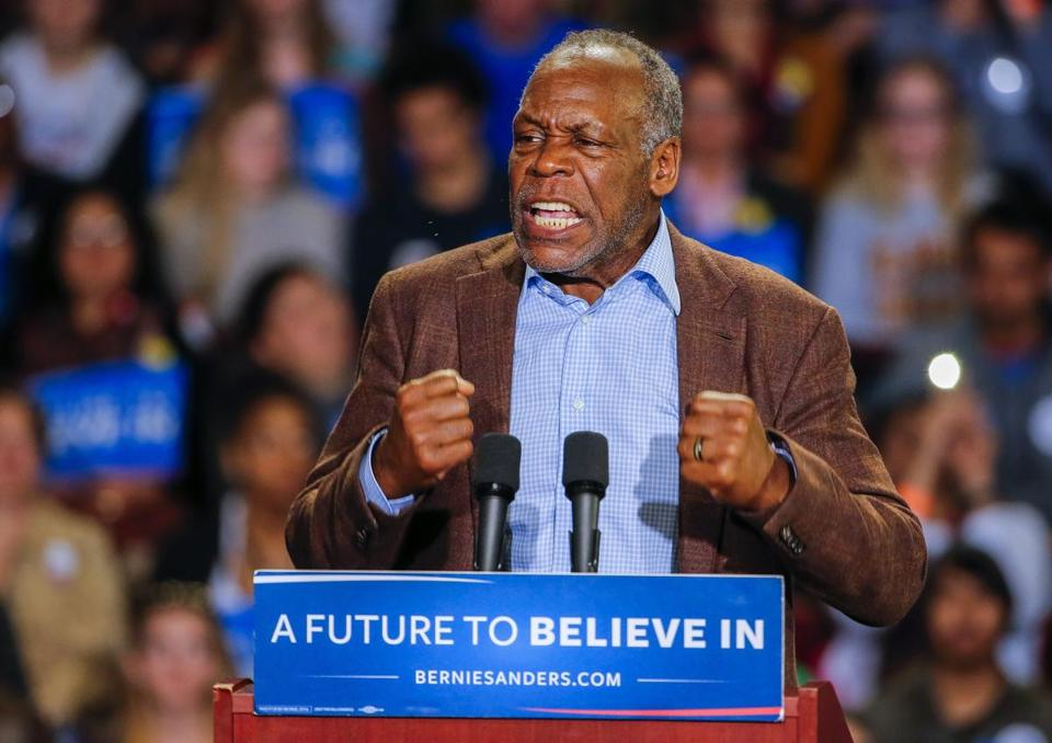Actor Danny Glover introduced Senator Bernie Sanders at a campaign rally at the Bon Secours Wellness Arena in Greenville, S.C., Feb. 21.