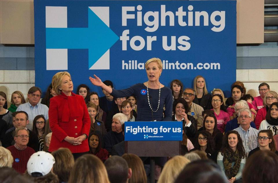 Cecile Richards, president of Planned Parenthood, introduced Hillary Clinton at a rally in Iowa on Jan. 23.