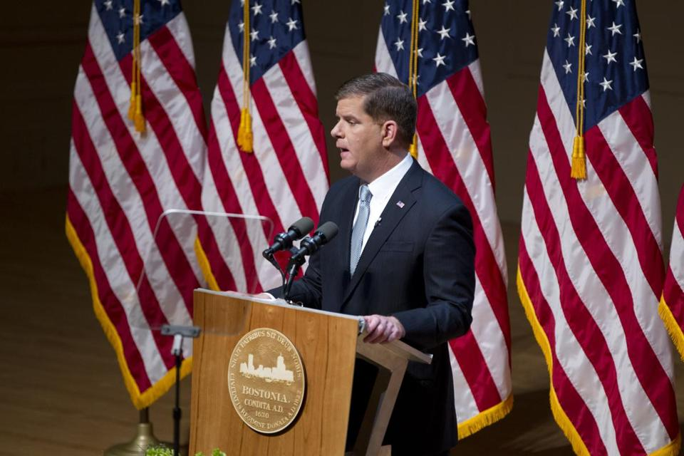 1/19/2016 - Boston, MA - Symphony Hall - Boston Mayor Marty Walsh delivered his 2016 State of the City address at Symphony Hall in Boston on January 19, 2015. Topic: 20mayorpic . Story by Meghan Irons/Globe Staff. Dina Rudick/Globe Staff