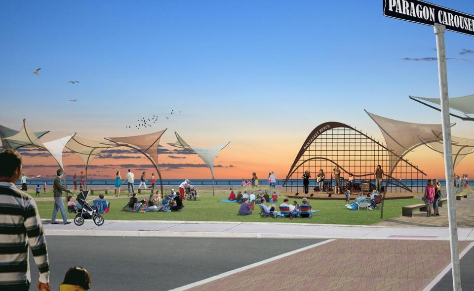 Rendering Of Nantasket Green Proposed Under The State S Master Plan For Reservation By