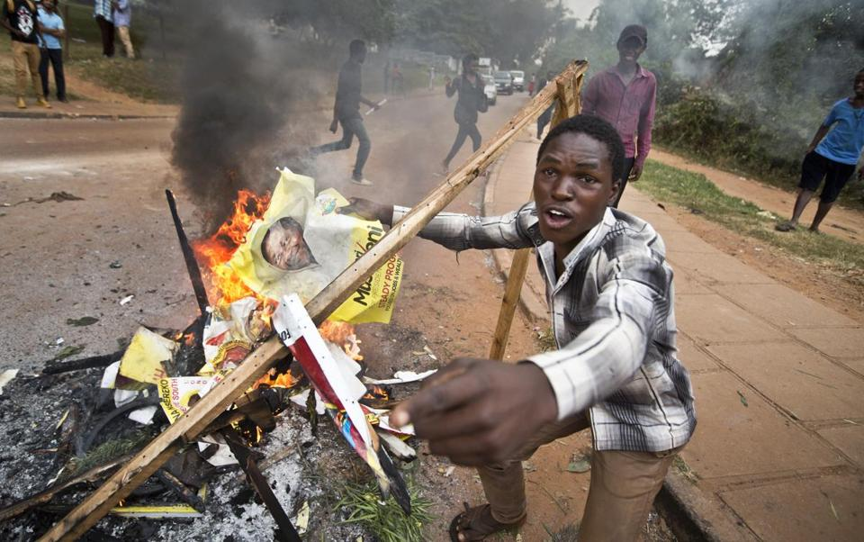 Unrest spilled over in Uganda on Feb. 15.