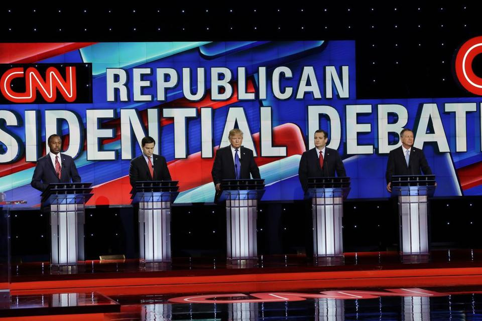 The Republican presidential candidates participated Thursday in the final debate before Super Tuesday.