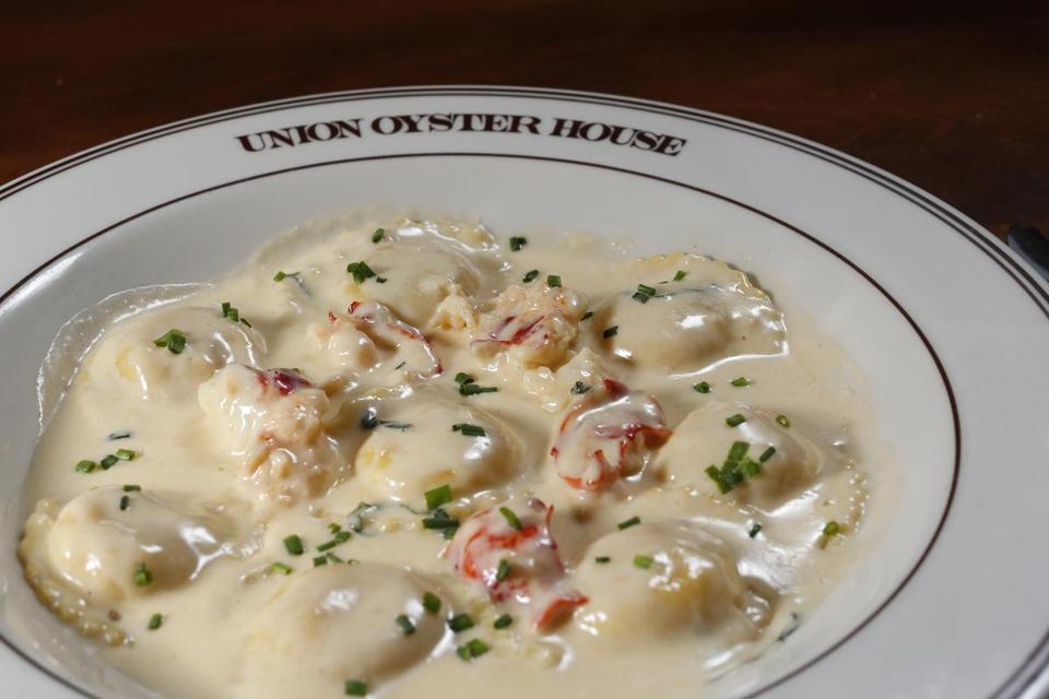Lobster ravioli at Union Oyster House.