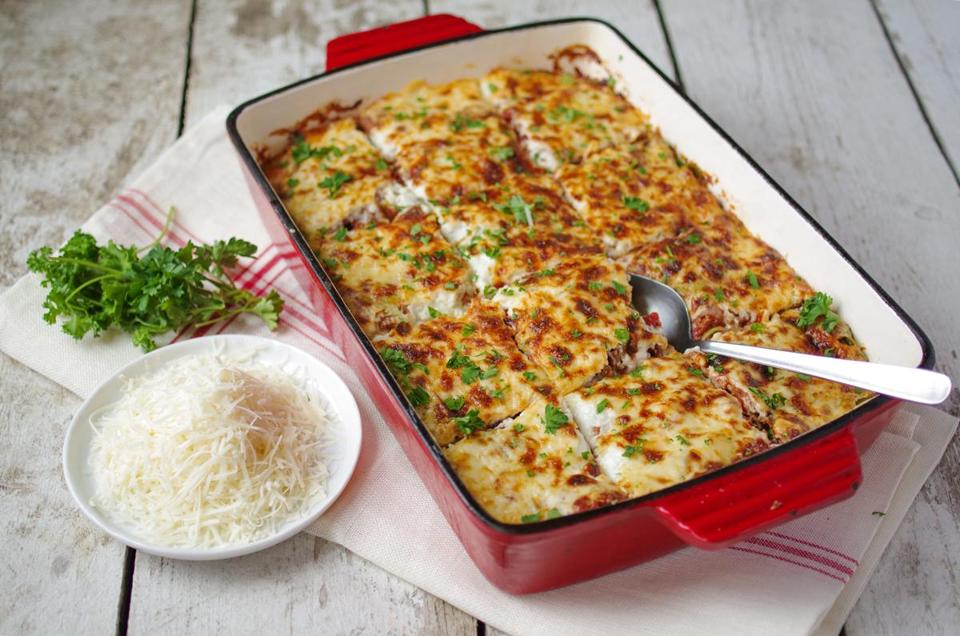 Recipe For Baked Pasta With Béchamel And Meat Sauce The Boston Globe