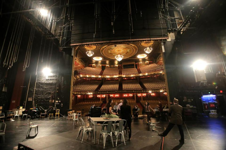 Emerson College is studying proposals to reopen the Colonial Theatre, where members of the Boston Lyric Opera held rehearsals in March.