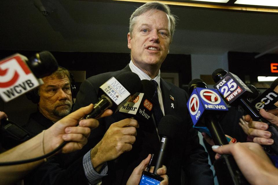 "Governor Charlie Baker sought much tougher legislation to deal with the opioid addiction crisis, but his spokesman said Tuesday that the current bill is ""a strong step in the right direction."