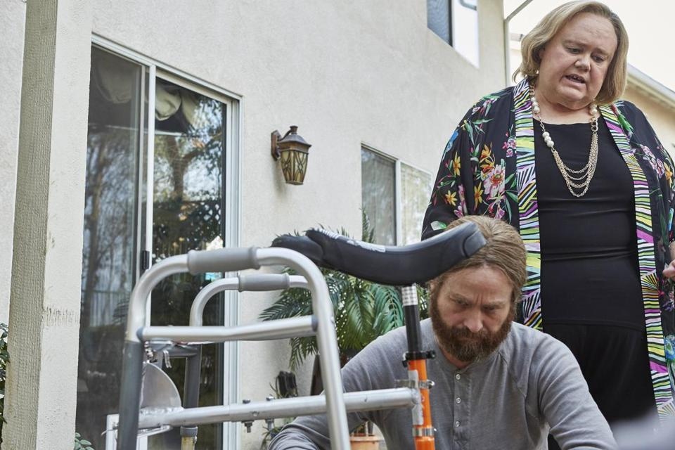 "Zach Galifianakis (left) and Louis Anderson in ""Baskets."""