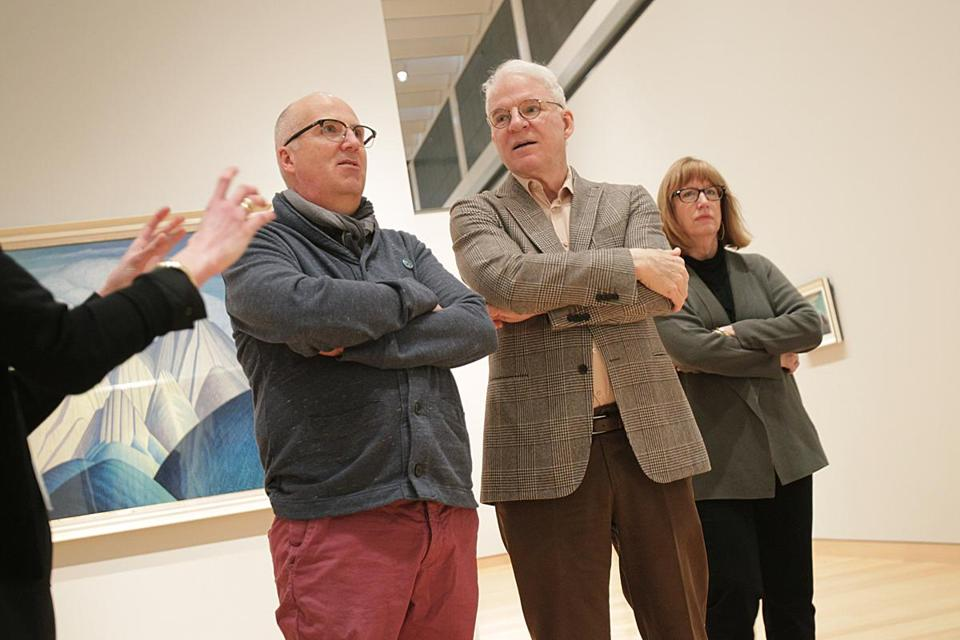 From left: Andrew Hunter of the Art Gallery of Ontario, Martin, and Cynthia Burlingham of the Hammer Museum.