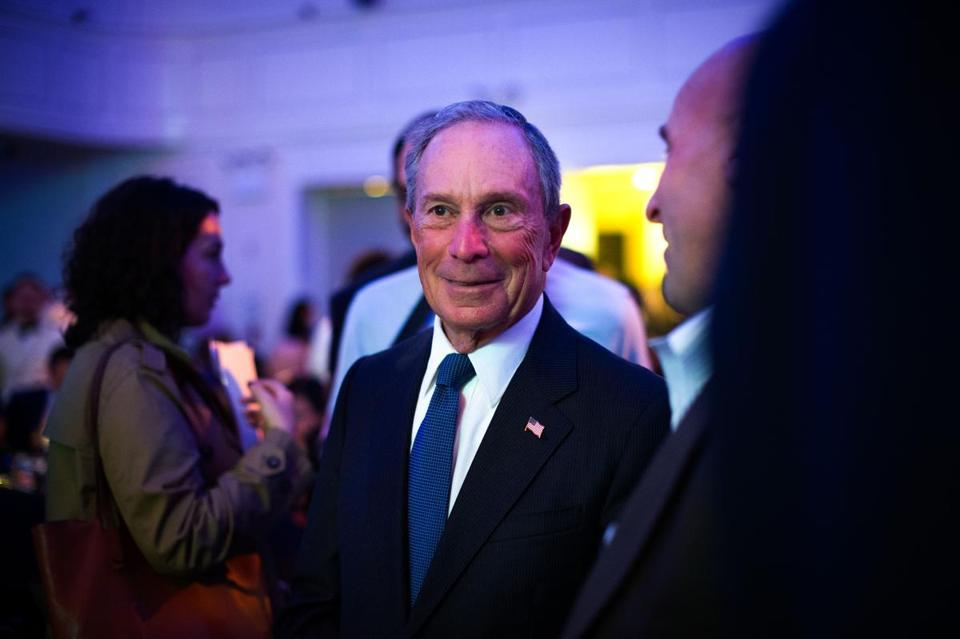 ''There is a good chance that my candidacy could lead to the election of Donald Trump or Senator Ted Cruz,'' wrote former New York City mayor Michael Bloomberg (above). ''That is not a risk I can take in good conscience.''