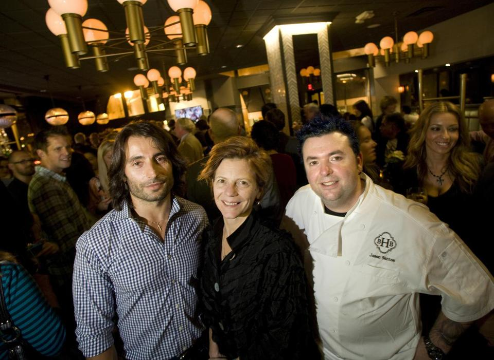 Jason Santos (right, with Eric Papachristos and Jody Adams in 2013) will replace Back Bay Harry's with Citrus & Salt, sister restaurant to his Buttermilk & Bourbon.