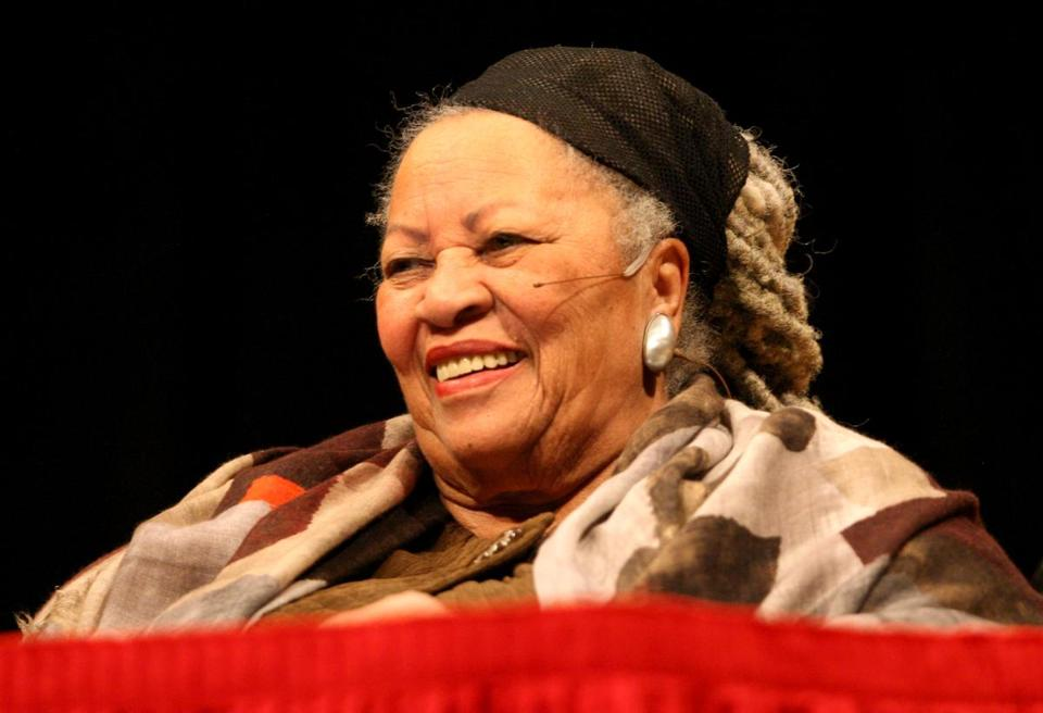 Toni Morrison at Sanders Theatre on Wednesday.