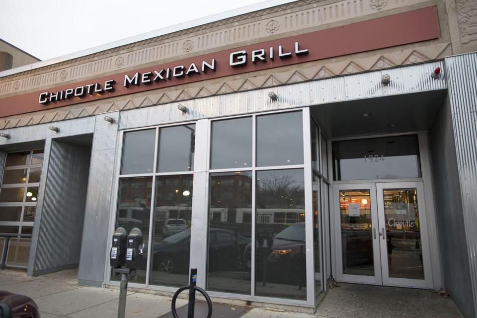 A Chipotle Mexican Grill in Boston, which sickened 136 people in December.