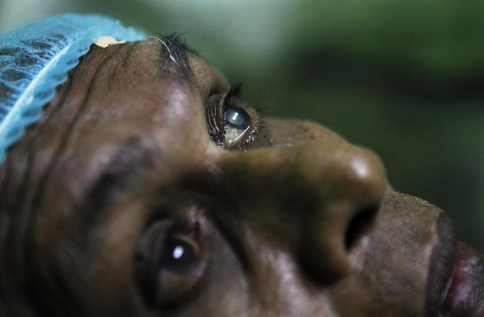 A cataract patient waited for surgery in 2011.