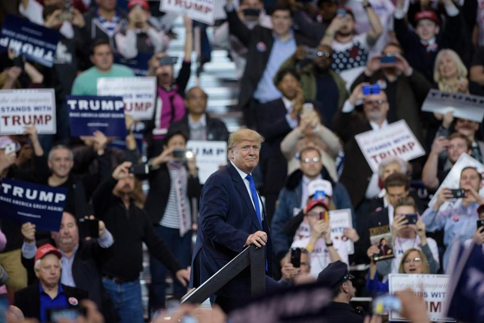 Trump pins rally chaos on sanderss supporters defends his own donald trump appeared at a rally at the international exposition center on saturday in cleveland publicscrutiny Image collections