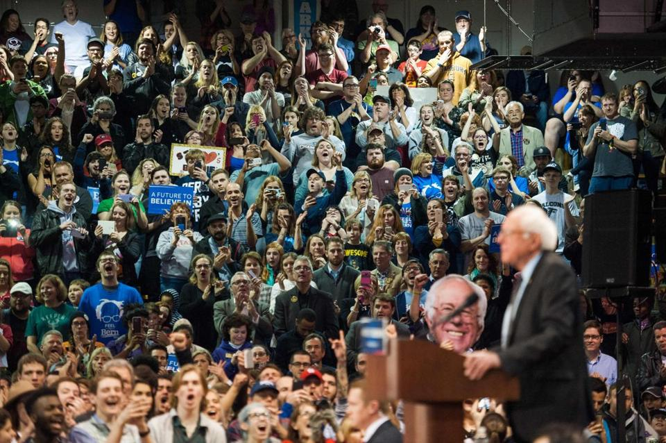 Democratic presidential hopeful Bernie Sanders spoke at a Missouri rally Sunday.