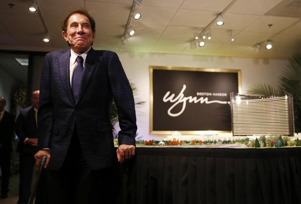 Medford, MA - 3/15/2016 - Steve Wynn smiles as he arrives to speak to reporters about a planned casino in Everett during a press conference in Medford, MA March 15, 2016. Jessica Rinaldi/Globe Staff Topic: 16wynn Reporter:
