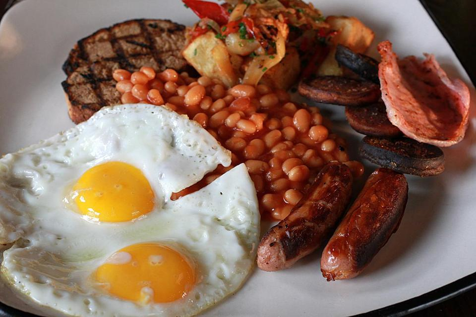 Among the dishes served at the Rising is the Irish breakfast.