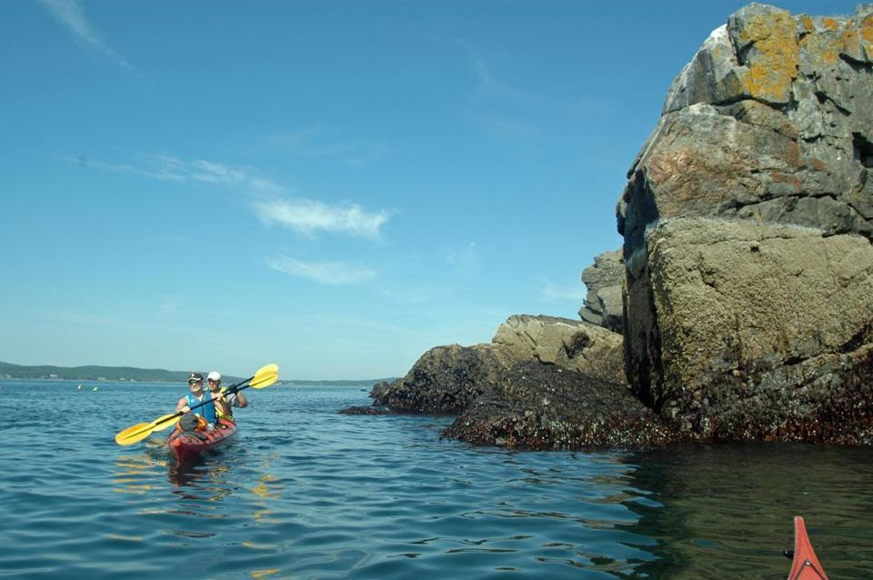 Waters surrounding Acadia National Park are perfect for paddling.