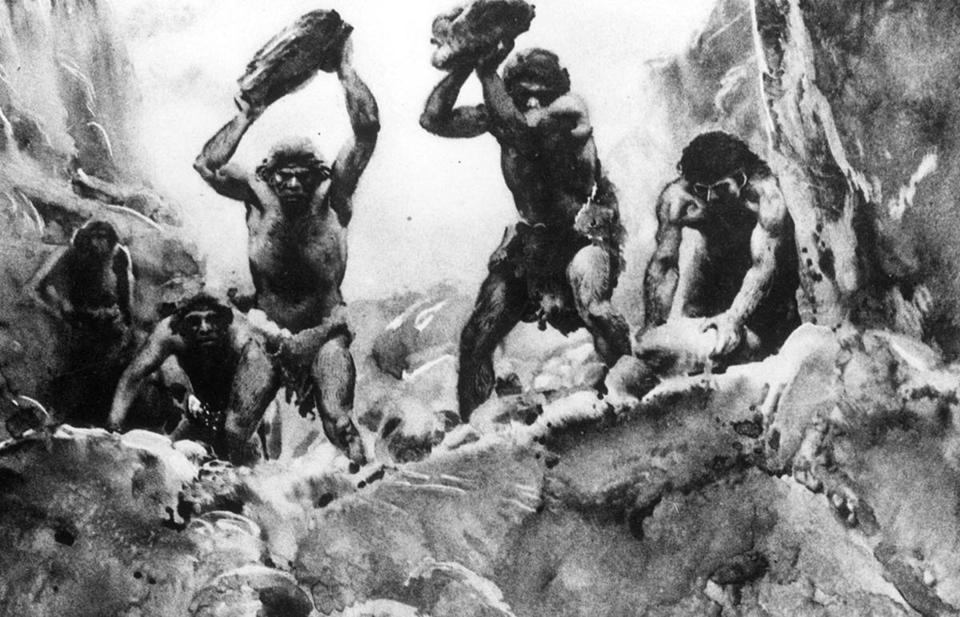 Image result for cavemen fighting