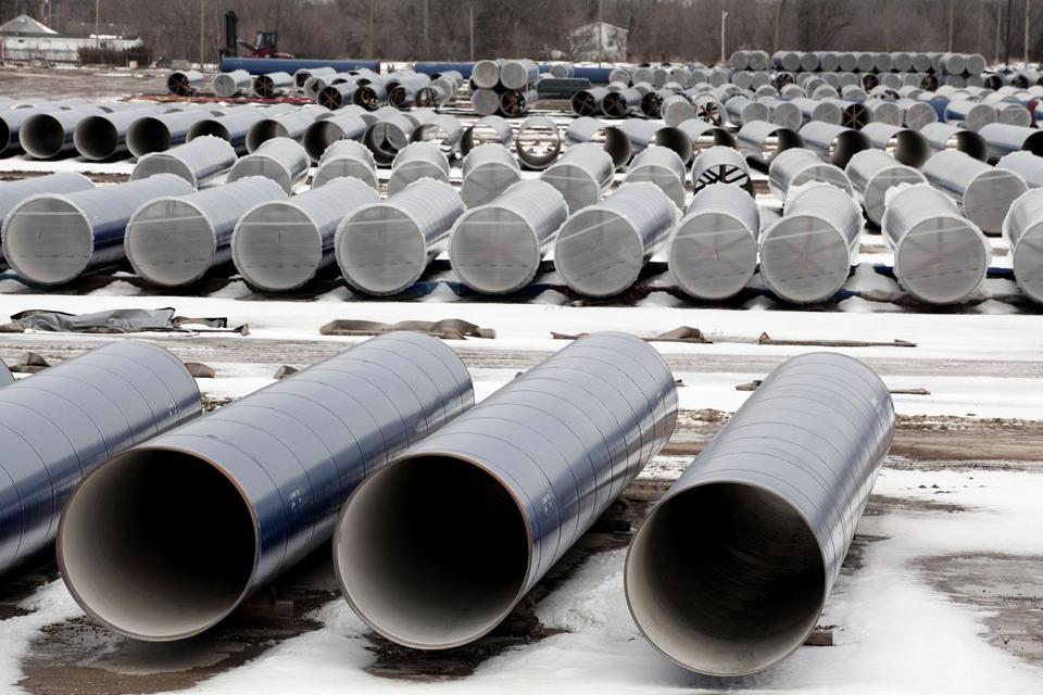 New water pipes awaiting installation in Flint, Michigan.