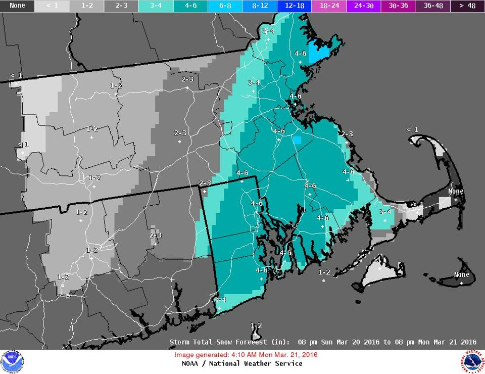 Snowfall Poses Challenges To Boston Commuters Monday The Boston - Snowfall totals massachusetts