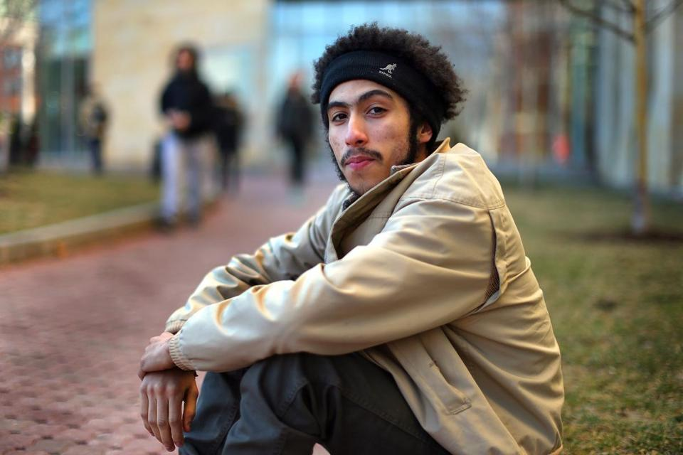 """I always hated school, to be honest . . . but I had men that I could look up to and get knowledge from,"" Luis Aponte, now a student at Northeastern University, said of the Diploma Plus program in Charlestown."