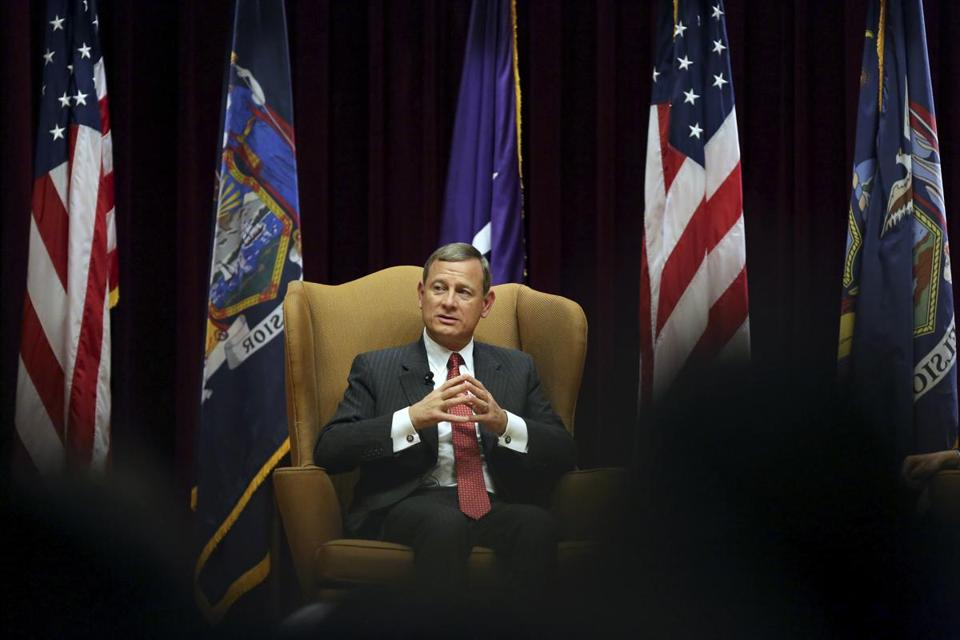 Supreme Court Chief Justice John Roberts in New York last year.