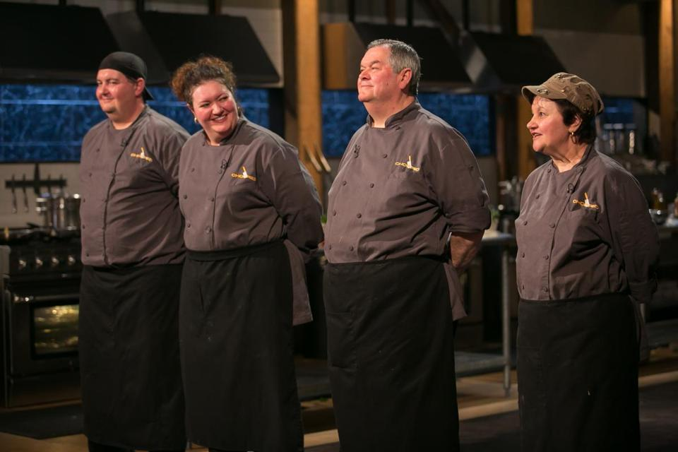 "Competitors on the Food Network's ""Chopped."""